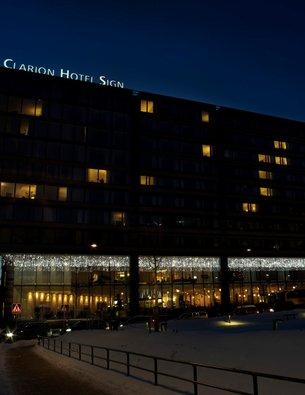 Hotel Clarion Sign, Stockholm